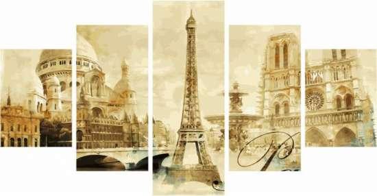 Модульное рисование по номерам Париж и его достопримечательности