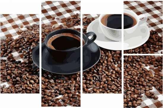 Модульное рисование по номерам Утренний кофе и зерна