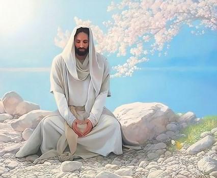 Картина по номерам 30x40 Иисус Христос у озера